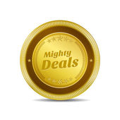 Mighty Deals Icon Button — Stock Vector