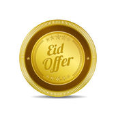 Eid Offer Icon Button — Stockvektor