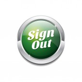 Sign Out Icon Button — Stock vektor