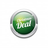 Christmas Deal Icon Button — Wektor stockowy