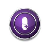 медицинская кнопка символа комплекта — Cтоковый вектор