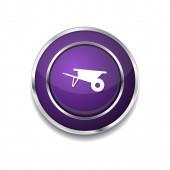 Trolly Icon Button — Stock Vector