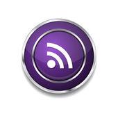 RSS Circular Icon Button — Vector de stock