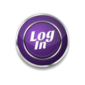 Log In Icon Button — Stock Vector