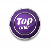 Top Offer Icon Button — Stock Vector