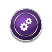 Settings Circular Web Icon Button — Stock Vector