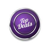 Top Deals Icon Button — Stock Vector