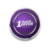 1 Month Offer Icon Button — Stock Vector