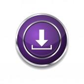 Download Icon Button — Vector de stock