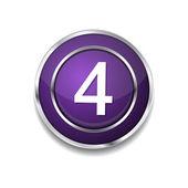 4 Number Icon Button — Vector de stock