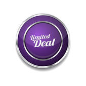 Limited Deal Icon Button — Stock Vector
