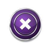 Cruz icono del botón — Vector de stock