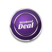 Weekend Deal Icon Button — Stock vektor