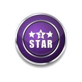 3 Star Icon Button — Stock Vector