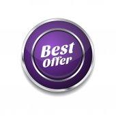 Best Offer Icon Button — Stockvektor