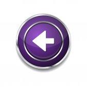 Left Key Icon Button — Vector de stock