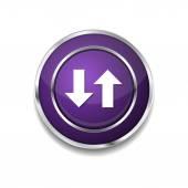 Data Icon Button — Vector de stock