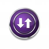 Data Icon Button — Stockvektor