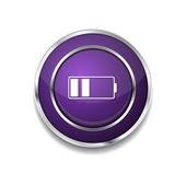 Battery Icon Button — Stock Vector