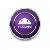 Engineer Icon Button — Vettoriale Stock