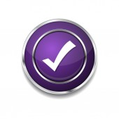 Tick Mark Icon Button — Vector de stock