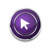 Click Icon Button — Vector de stock