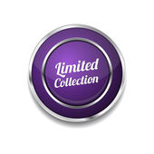Limited Collection Icon Button — Stock Vector