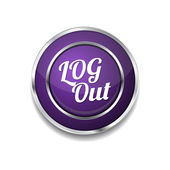 Log Out Icon Button — Stock Vector