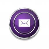 Email Icon Button — Vector de stock