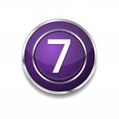 7 Number Icon Button — Vector de stock