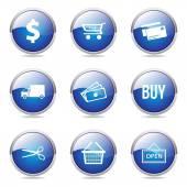 Shopping Sign Button Icon — Stockvektor