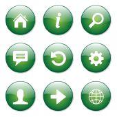 Web Internet Button Icon — Stockvektor