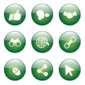 Social Internet Button Icon — Stock Vector