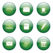 Office Work Button — Stock Vector