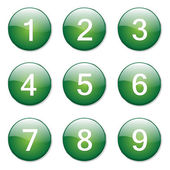 Numbers Counting Button — Stock Vector