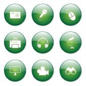 Electronic Equipment Button — Stock Vector