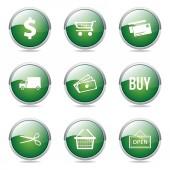 Shopping Sign Button — Stock Vector