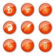 Science Instruments Button Icon — Stock Vector #65425425