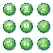 Multimedia Web Internet Button Icon — Stock Vector