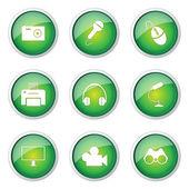 Electronic Equipment Button Icon — Stock Vector