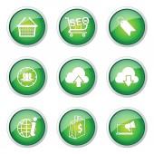 SEO Internet Sign Button — Stok Vektör