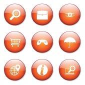 SEO Internet Sign Button Icon — Stock vektor