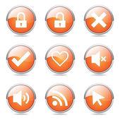 SEO Internet Sign Button Icon — Stockvector