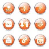 SEO Internet Sign Button Icon — Wektor stockowy