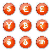 Currency Sign Button Icon — Cтоковый вектор