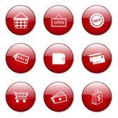 Shopping Sign Button Icon — Stock Vector