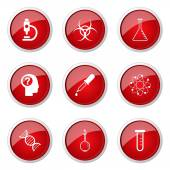 Science Instruments Button Icon — Stock Vector