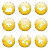 Social Internet Icon Design — ストックベクタ