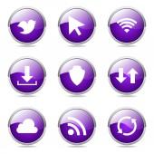 Web Internet Social Button Icon — Vector de stock