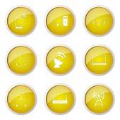 Telecom Communication Button Icon — Stockvektor